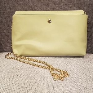 Small light green Zara purse